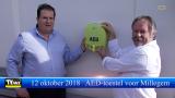 Millegem: Mollenrit vzw en bvba Michel Foets schenken AED toestel
